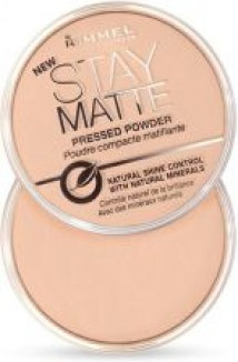 RIMMEL PODKLADY KOREKTORY PRESSED POWDER PUDER STAY MATTE PEACH GLOW 003